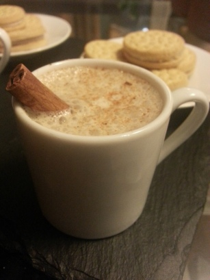 Holiday Nog with cookies